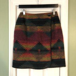 VTG Brooks Fashions Aztec Wrap Mini Skirt
